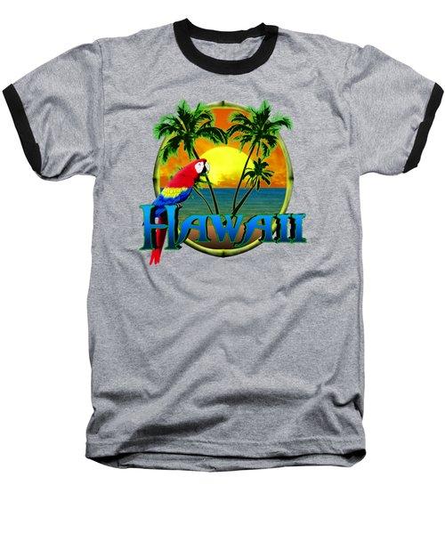 Hawaii Parrot Baseball T-Shirt by Chris MacDonald