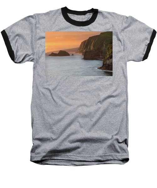 Hawaii Sunrise At The Pololu Valley Lookout 2 Baseball T-Shirt by Larry Marshall
