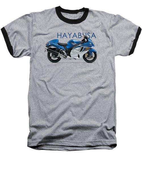 Hayabusa In Blue Baseball T-Shirt by Mark Rogan