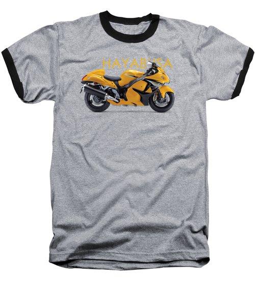 Hayabusa In Yellow Baseball T-Shirt by Mark Rogan