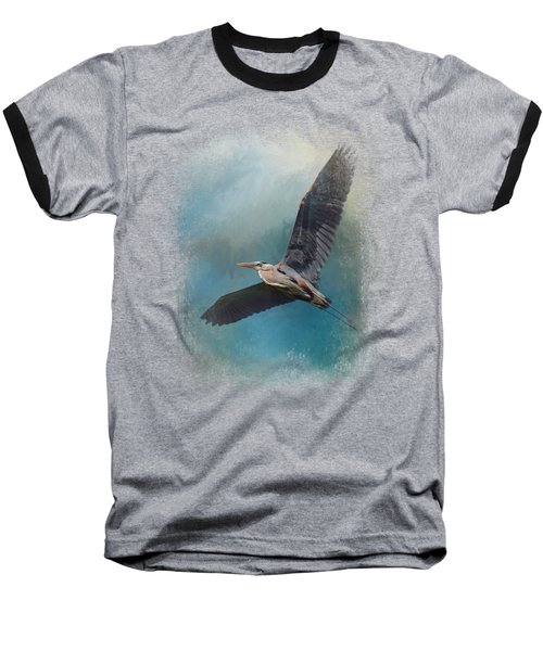 Heron In The Midst Baseball T-Shirt by Jai Johnson