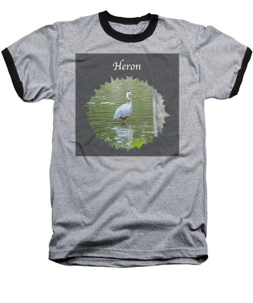 Heron Baseball T-Shirt by Jan M Holden