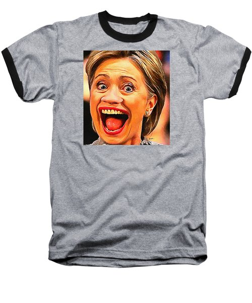 Hillary Clinton Baseball T-Shirt by Anthony Caruso