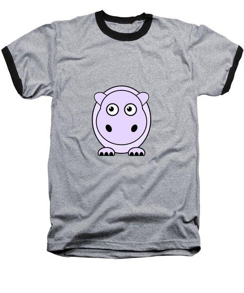 Hippo - Animals - Art For Kids Baseball T-Shirt by Anastasiya Malakhova