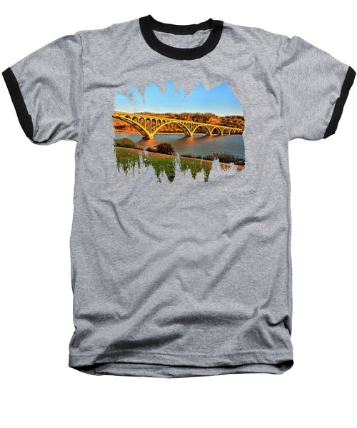 Historic Patterson Bridge Gold Beach Baseball T-Shirt by Thom Zehrfeld
