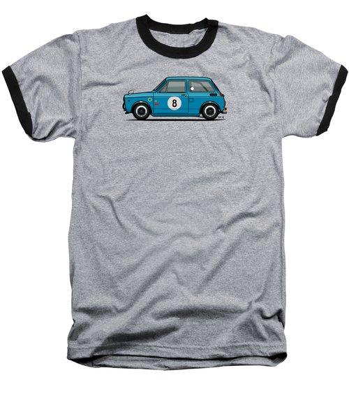 Honda N600 Blue Kei Race Car Baseball T-Shirt by Monkey Crisis On Mars