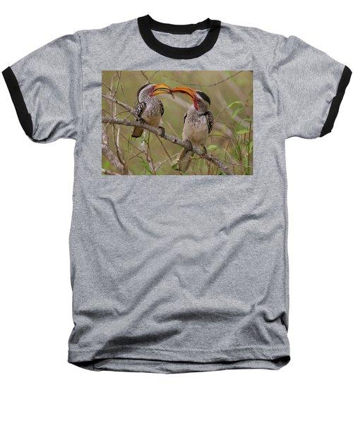Hornbill Love Baseball T-Shirt by Bruce J Robinson