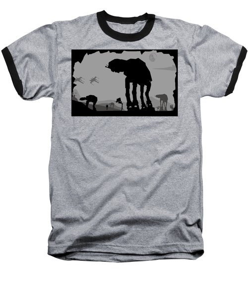 Hoth Machines Baseball T-Shirt by Michael Bergman