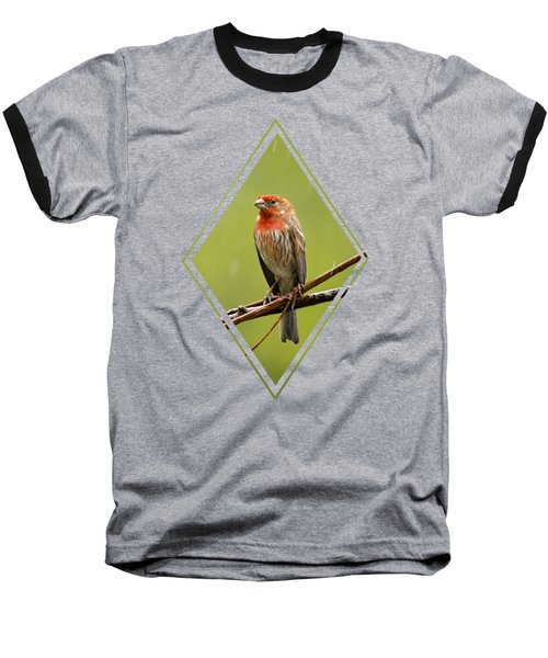 House Finch In The Rain Baseball T-Shirt by Christina Rollo