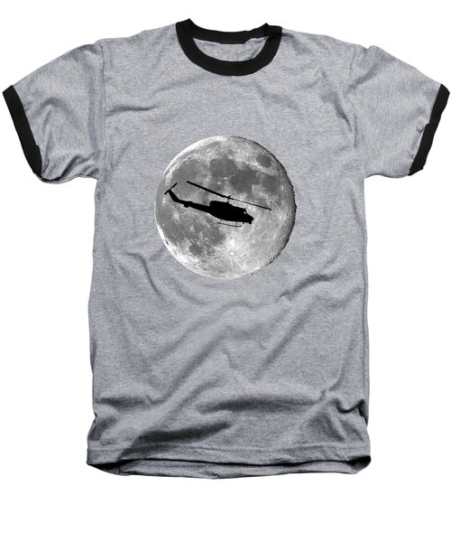 Huey Moon .png Baseball T-Shirt by Al Powell Photography USA