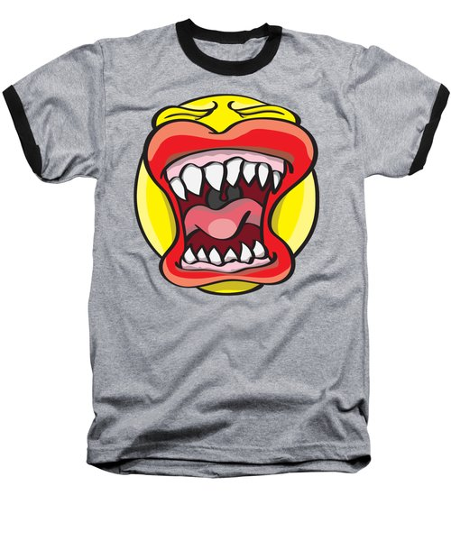 Hungry Pacman Baseball T-Shirt by Jorgo Photography - Wall Art Gallery