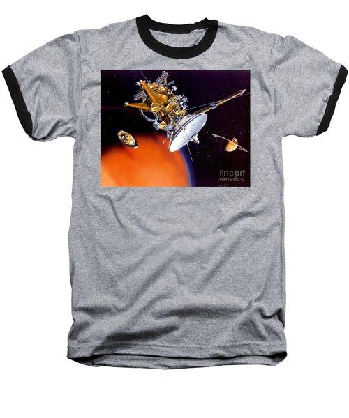 Huygens Probe Separating Baseball T-Shirt by NASA and Photo Researchers