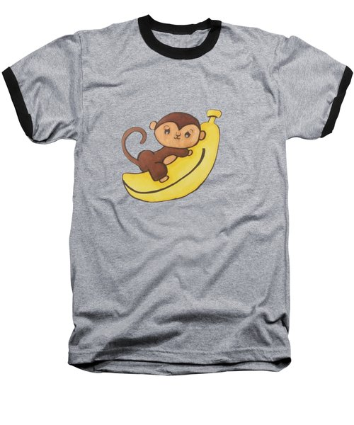I Has A Banana Baseball T-Shirt by Darci Smith