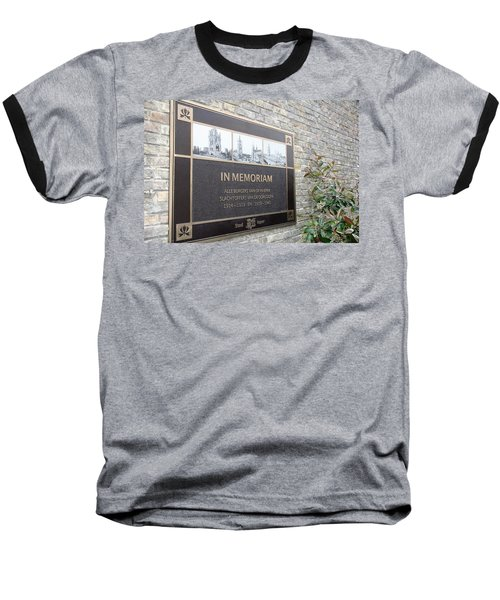 Baseball T-Shirt featuring the photograph In Memoriam - Ypres by Travel Pics