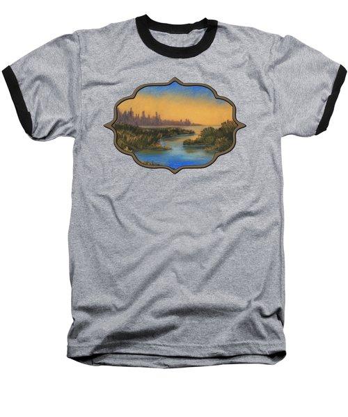 In The Distance Baseball T-Shirt by Anastasiya Malakhova