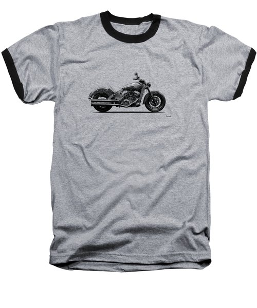 Indian Scout 2015 Baseball T-Shirt by Mark Rogan
