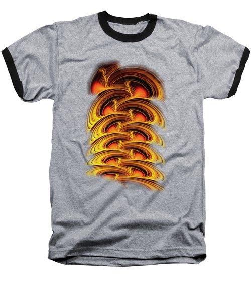 Inferno Baseball T-Shirt by Anastasiya Malakhova