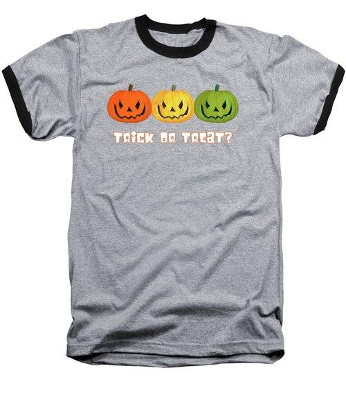 Jack-o-lanterns Baseball T-Shirt by Methune Hively