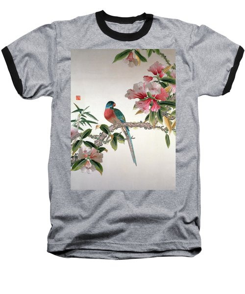 Jay On A Flowering Branch Baseball T-Shirt by Chinese School