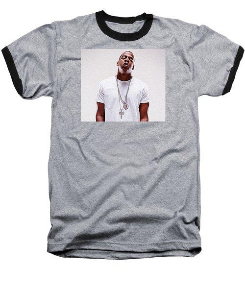 Jay-z Baseball T-Shirt by Iguanna Espinosa