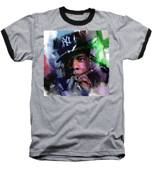 Jay Z Baseball T-Shirt by Richard Day