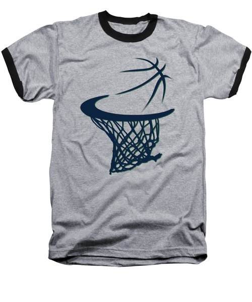 Jazz Basketball Hoop Baseball T-Shirt by Joe Hamilton