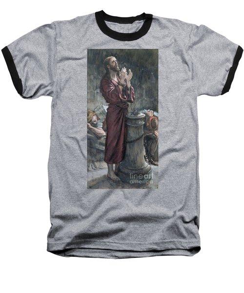 Jesus In Prison Baseball T-Shirt by Tissot