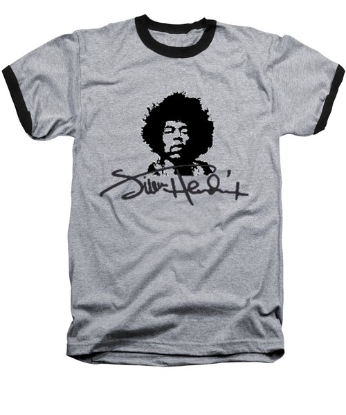 Jimi Hendrix Purple Haze Baseball T-Shirt by David Dehner
