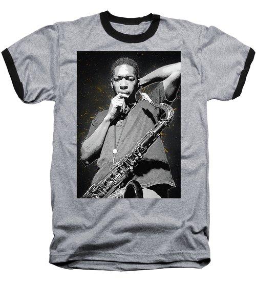 John Coltrane Baseball T-Shirt by Semih Yurdabak