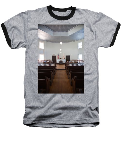 Jury Box In A Courthouse, Old Baseball T-Shirt by Panoramic Images