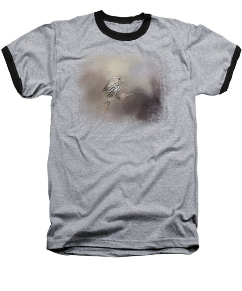Just A Whisper Of Feathers Baseball T-Shirt by Jai Johnson