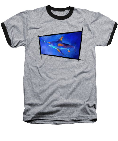 Kauderon V1 - Beautiful Swordfish Baseball T-Shirt by Cersatti