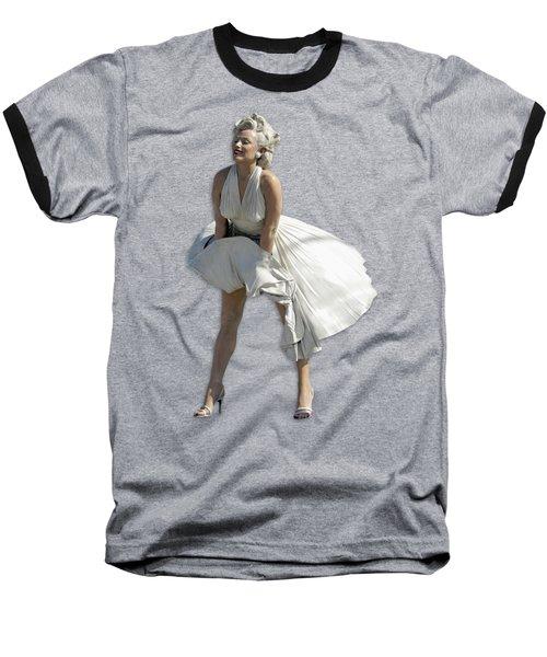 Key West Marilyn - Special Edition Baseball T-Shirt by Bob Slitzan
