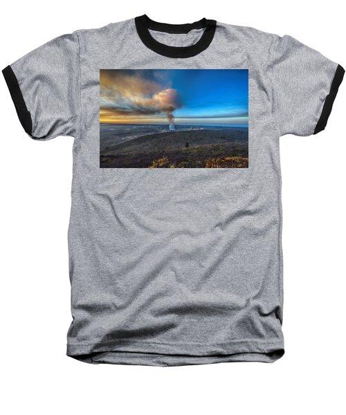 Kilauea Caldera Baseball T-Shirt by Lynn Andrews