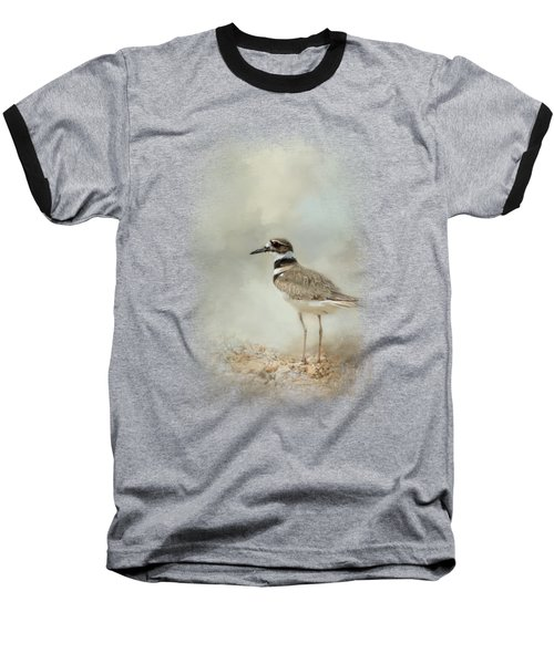 Killdeer On The Rocks Baseball T-Shirt by Jai Johnson