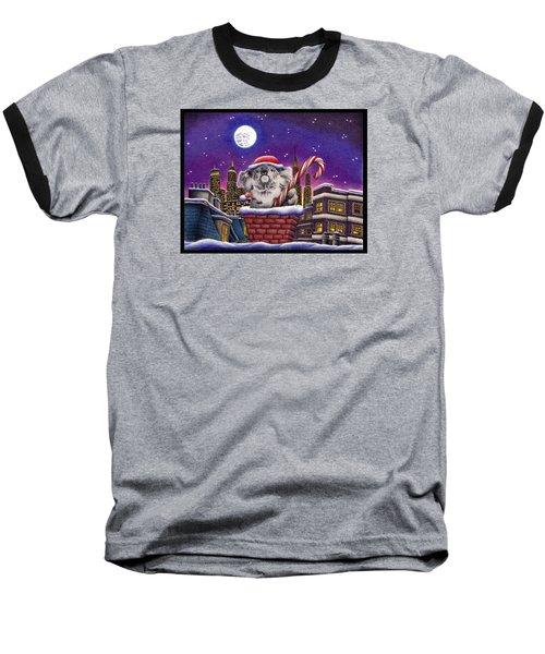 Koala In Chimney Baseball T-Shirt by Remrov