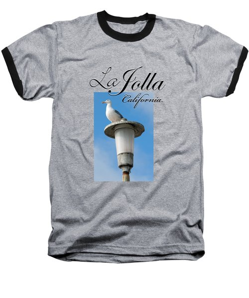 La Jolla Beach Seagull II Baseball T-Shirt by K D Graves