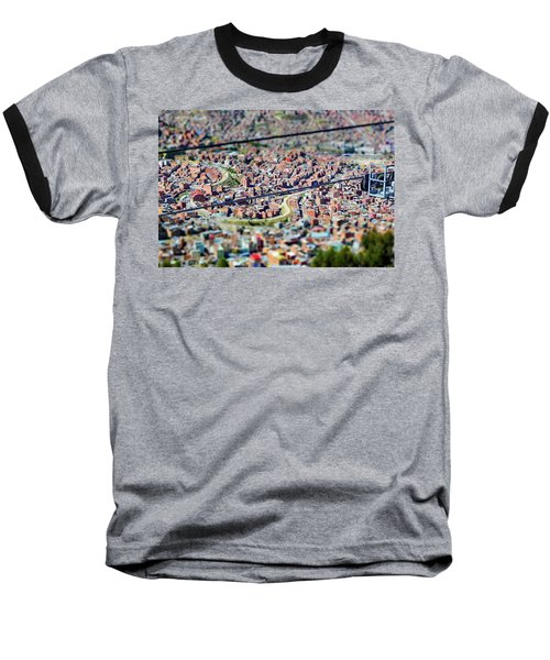 La Paz, Bolivia No. 29 Baseball T-Shirt by Sandy Taylor