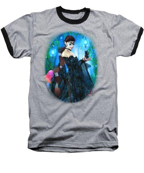 Lady Of The Dragon Fae Baseball T-Shirt by Brandy Thomas