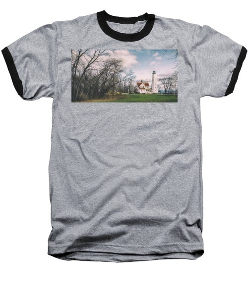 Late Afternoon At The Lighthouse Baseball T-Shirt by Scott Norris