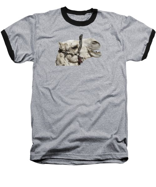 Laughing Camel Baseball T-Shirt by Roy Pedersen