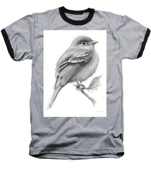 Least Flycatcher Baseball T-Shirt by Greg Joens