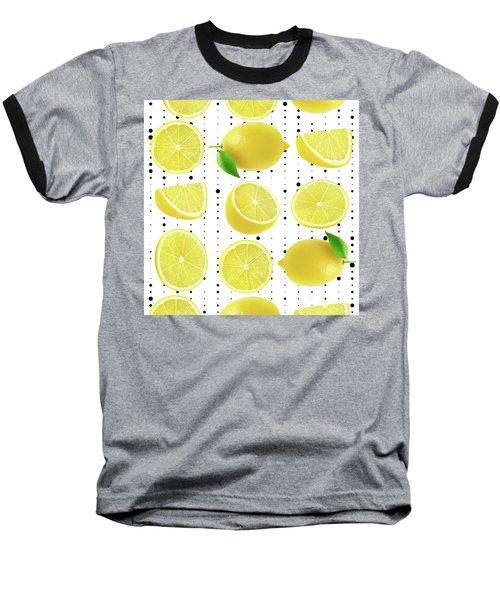 Lemon  Baseball T-Shirt by Mark Ashkenazi