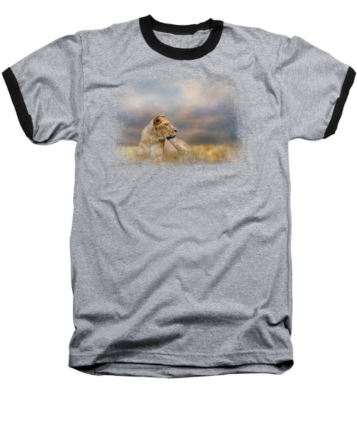 Lioness After The Storm Baseball T-Shirt by Jai Johnson