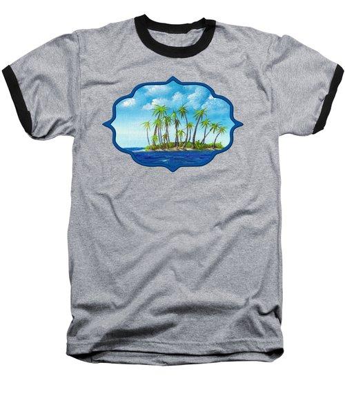 Little Island Baseball T-Shirt by Anastasiya Malakhova
