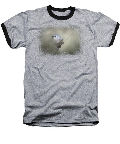 Little Tufted Titmouse Baseball T-Shirt by Jai Johnson