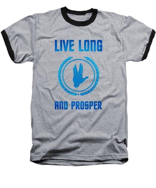 Live Long And Prosper Spock's Hand Leonard Nimoy Geek Tribut Baseball T-Shirt by Philipp Rietz