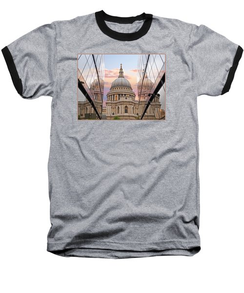 London Awakes - St. Pauls Cathedral Baseball T-Shirt by Gill Billington