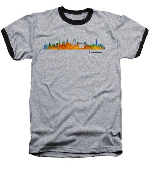 London City Skyline Hq V1 Baseball T-Shirt by HQ Photo