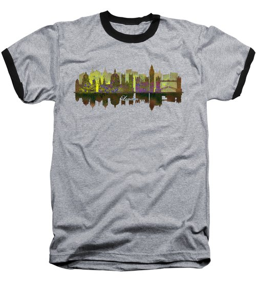 London England Skyline In Golden Light Baseball T-Shirt by John Groves